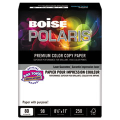Boise BCC8011: Polaris Premium Color Copy Paper, 98 Bright, 80Lb, 8.5 X 11, White, 250 / Pack