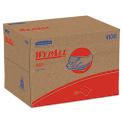 WypAll 41041: X80 Cloths, Brag Box, Hydroknit, Blue, 12 1/2 x 16 4/5, 160 Wipers / carton