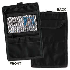 Advantus 76345: Travel Id / document Holder, Hold 4 1/4 x 2 1/4 Cards, Black Nylon, 5 / pack