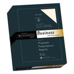 Southworth 404NC: 25 Cotton Business Paper, 24 Lb, 8.5 X 11, Natural, 500 / Ream