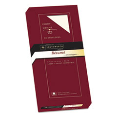 Southworth R14I10L: 100 Cotton Resume Envelope, 10, Commercial Flap, Gummed Closure, 4.13 X 9.5, Ivory, 50 / Box