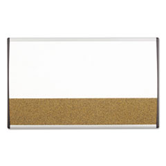 Quartet ARCCB3018: Magnetic Dry-Erase / cork Board, 18 x 30, White Surface, Silver Aluminum Frame