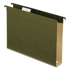Pendaflex 6152X2: Poly Laminate Hanging Folders, 1/5 Tab, 2 Expansion, Letter, Green, 20 / box