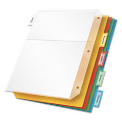 Cardinal 84009: Poly Ring Binder Pockets, 11 x 8 1/2, Letter, Assorted Colors, 5 / pack