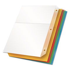 Cardinal 84007: Poly Ring Binder Pockets, 11 x 8 1/2, Assorted Colors, 5 / pack