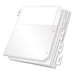 Cardinal 84010: Poly Ring Binder Pockets, 11 x 8 1/2, Clear, 5 / pack