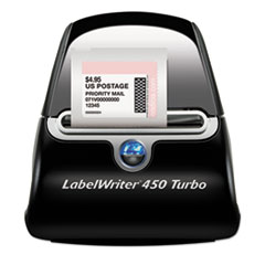 DYMO 1752265: Labelwriter 450 Turbo Printer, 71 Label / Min, 5W X 7.4D X 5.5H
