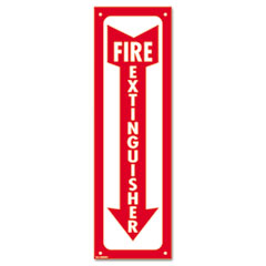 Cosco 098063: Glow-In-The-Dark Safety Sign, Fire Extinguisher, 4 x 13, Red