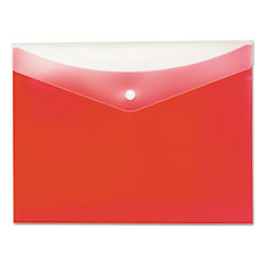 Globe-Weis 95563: Poly Snap Envelope, Snap Closure, 8.5 X 11, Strawberry