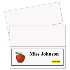 C-Line 87517: Printer-Ready Name Tent Cards, 11 x 4 1/4, White Cardstock, 50 Letter Sheets / box