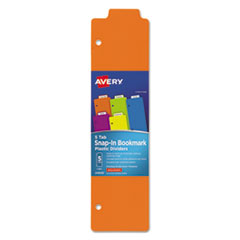 Avery 24908: Tabbed Snap-In Bookmark Plastic Dividers, 5-Tab, 11.5 X 3, Assorted, 1 Set