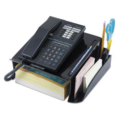 Universal 08116: Telephone Stand Message Center, 12 1/4 x 10 1/2 x 5 1/4, Black