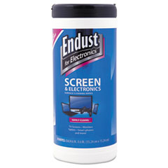 Endust 11506: Antistatic Cleaning Wipes, Premoistened, 70 / canister