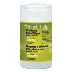 Quartet 52180032: Board Wipes Dry Erase Cleaning Wipes, Cloth, 7 x 8, 70 / tub