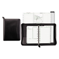 Day-Timer 41745: Recycled Bonded Leather Starter Set, 8 1/2 X 5 1/2, Black Cover