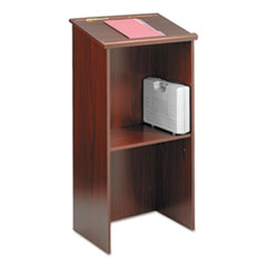 Safco 8915MH: Stand-Up Lectern, 23W X 15.75D X 46H, Mahogany
