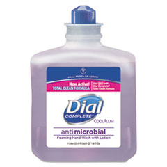 Dial 81033: Antimicrobial Foaming Hand Wash, Cool Plum Scent, 1000ml Bottle