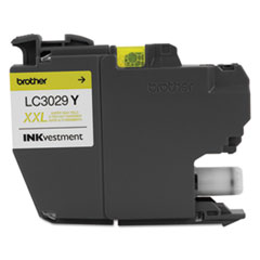 Brother LC3029Y: Lc3029y Inkvestment Super High-Yield Ink, Yellow