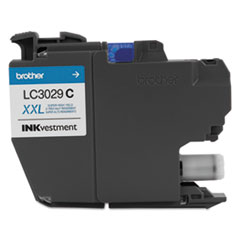 Brother LC3029C: Lc3029c Inkvestment Super High-Yield Ink, Cyan