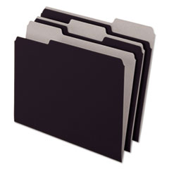 Pendaflex 421013BLA: Interior File Folders, 1/3 Cut Top Tab, Letter, Black 100 / box