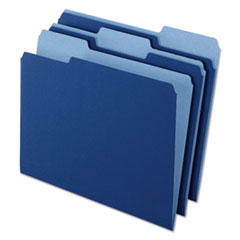 Pendaflex 421013NAV: Interior File Folders, 1/3 Cut Top Tab, Letter, Navy Blue, 100 / box