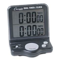 Champion Sports DC100: Dual Timer / clock with jumbo Display, Lcd, 3 1/2 x 1 x 4 1/2