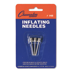 Champion Sports INB: Nickel-Plated Inflating Needles for Electric Inflating Pump, 3 / pack