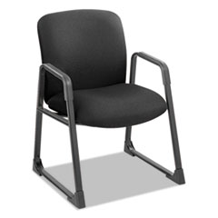 Safco 3492BL: Uber Series Big Tall Sled Base Guest Chair, Black