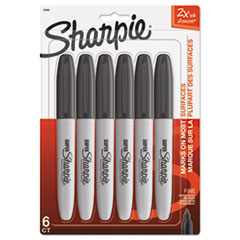 Sharpie 33666PP: Super Permanent Marker, Fine Bullet Tip, Black, 6 / Pack