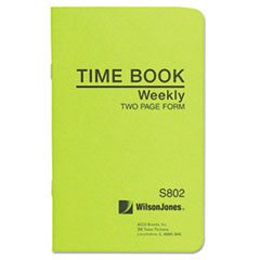 Wilson Jones S802: Foreman s Time Book, Week Ending, 4-1/8 x 6-3/4, 36-Page Book