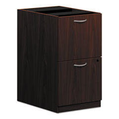 Basyx BL2163NN: Pedestal File, 2 Drawers 15.6 x 21.8 x 27.8 2 x File Drawer s Square Edge Material Wood Finish Laminate, Mahogany