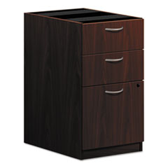 Basyx BL2162NN: Pedestal File, 3 Drawers 15.6 x 21.8 x 27.8 3 x Box Drawer s, File Drawer s Square Edge Material Wood Finish Laminate, Mahogany