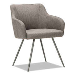 Alera CS4351: Alera Captain Series Guest Chair, 24 X 24.5 X 30.25, Gray Tweed Seat / Gray Tweed Back, Chrome Base