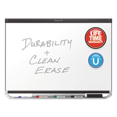 Quartet P554GP2: Quartet Prestige 2 DuraMax Porcelain Magnetic Whiteboard, 4 x 3, Graphite Finish Frame 48 4 ft Width x 36 3 ft Height White Porcelain Surface Graphite Frame Horizonta..