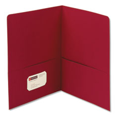 Smead 87859: Two-Pocket Folder, Textured Paper, Red, 25 / box