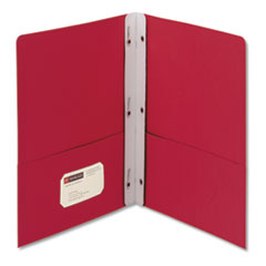 Smead 88059: 2-Pocket Folder with tang Fastener, Letter, 1/2 Cap, Red, 25 / box