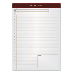 TOPS Forms 77100: Docket Gold Planning Pads, Wide / Legal Rule, Cover, 8.5 X 11.75, 40 Sheets, 4 / Pack