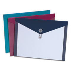 Pendaflex 90016: Poly Envelopes, Letter Size, Assorted Colors, 4 / Pack