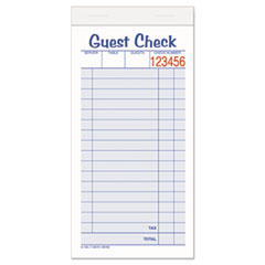 Adams Business Forms 10450SW: Guest Check Unit Set, Carbonless Duplicate, 6 7/8 x 3 3/8, 50 Forms, 10 / pack