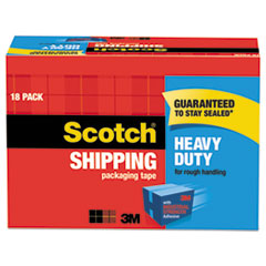 Scotch 385018CP: 3850 Heavy-Duty Packaging Tape Cabinet Pack, 3 Core, 1.88 X 54.6 Yds, Clear, 18 / Pack