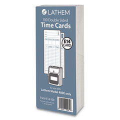 Lathem Time E14100: E14-100 Time Cards, Bi-Weekly / Monthly / Semi-Monthly / Weekly, Two Sides, 7