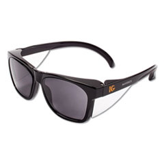 KleenGuard 49311: Maverick Safety Glasses, Black, Polycarbonate Frame, Smoke Lens