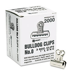 Boston 2000: Bulldog Clips, Mini, Nickel-Plated, 36 / Box