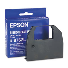Epson 8762L: Ribbon Cartridge Dot Matrix Black 1 Each