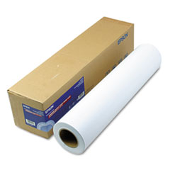 Epson S041638: Premium Glossy Photo Paper Roll, 3 Core, 10 Mil, 24 X 100 Ft, Glossy White