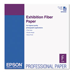 Epson S045039: Exhibition Fiber Paper, 13 Mil, 17 X 22, White, 25 / Pack