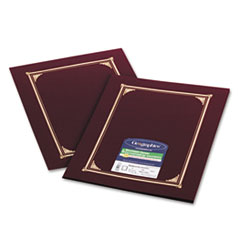Geographics 45333: Certificate / document Cover, 12 1/2 x 9 3/4, Burgundy, 6 / pack