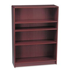 HON 1894N: 1890 Series Bookcase, Four Shelf, 36w x 11 1/2d x 48 3/4h, Mahogany