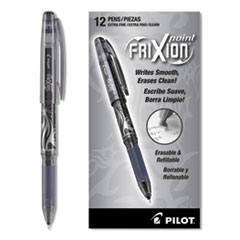 Pilot 31573: Frixion Point Erasable Stick Gel Pen, Extra-Fine 0.5Mm, Black Ink, Black Barrel