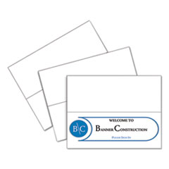 C-Line 87517: Scored Tent Cards, 11 X 4 1/4, White Cardstock, 50 Letter Sheets / Box